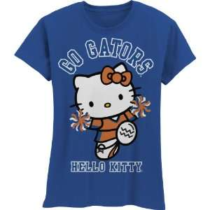 Gators Hello Kitty Pom Pom Girls Crew Tee Shirt