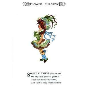 Flower Children Fridge Magnet Sweet Alyssum