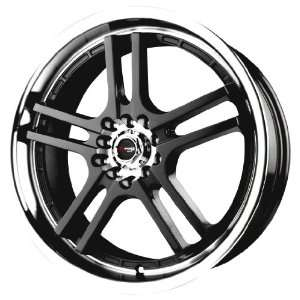 Drag DR 12 Gloss Black Machined Wheel (17x7/4x100mm)