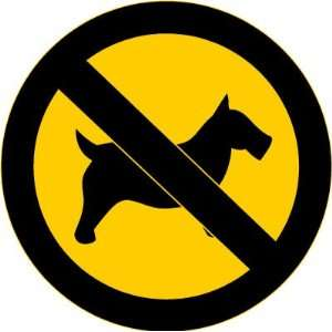 No Dogs Allowed Warning Sign Car Bumper Sticker Decal 4.5