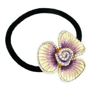 Perfect Gift   High Quality Flower Hair Tie with Silver