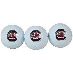 MacArthur South Carolina Gamecocks NCAA Golf Ball 3 Pack