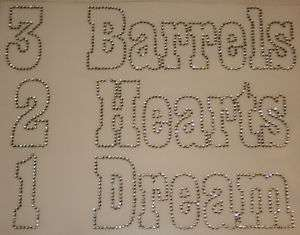 Rhinestone Iron On Transfers Horse Barrel Racing