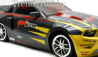 Charcoal/Yellow Ford Mustang Drifter Remote Control Electric Toy Car 1