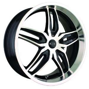 18x7.5 DIP Bionic (D63) (Black w/ Machined Face & Lip) Wheels/Rims