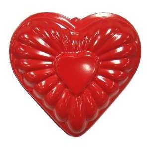 Red Enamelled Nonstick Heart Shaped Cake Pan 10 Inch