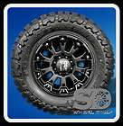MISFIT BLACK RIMS WITH 33X12.50X18 TOYO OPEN COUNTRY MT WHEELS TIRES