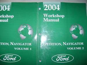 2004 FORD EXPEDITION & NAVIGATOR SERVICE MANUAL SET